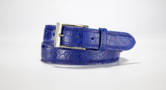 "American Alligator Belt - Glossy 1 3/8"" - 35mm (Navy Blue)"