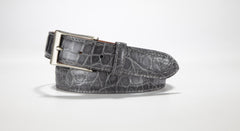 "American Alligator Belt - Glossy 1 3/8"" - 35mm (Black)"