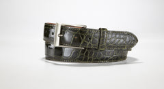 "American Alligator Belt - Glossy 1 3/8"" - 35mm (Denim)"