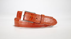 "American Alligator Belt - Glossy 1 3/8"" - 35mm (Burgundy)"