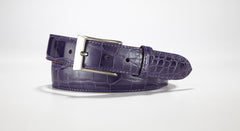 "American Alligator Belt - Glossy 1 3/8"" - 35mm (Olive)"
