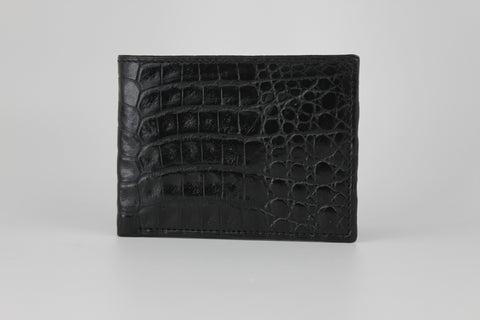 Crocodile Bifold Wallet - Black