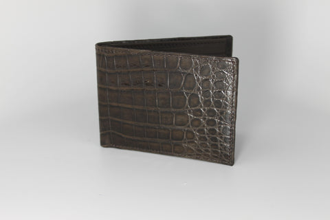 Crocodile Bifold Wallet - Brown