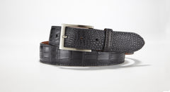 "American Alligator Belt - Matte 1 3/8"" - 35mm (White)"
