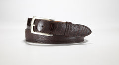 "Ostrich Leg Belt 1 1/4"" - 32mm (Burgundy)"