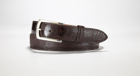 "Ostrich Leg Belt 1 1/4"" - 32mm (Brown)"