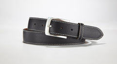 "Pebble Grain Leather 1 3/8"" - 35mm (Black)"