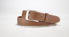 "Pebble Grain Leather 1 3/8"" - 35mm (Cognac)"