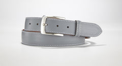 "Pebble Grain Leather 1 3/8"" - 35mm (White)"
