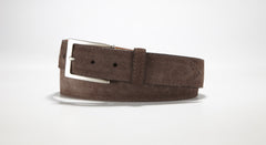 "Suede Leather 1 3/8"" - 35mm (Brown)"