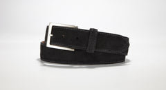 "Suede Leather 1 3/8"" - 35mm (Navy Blue)"