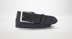 "Suede Leather 1 3/8"" - 35mm (Black)"
