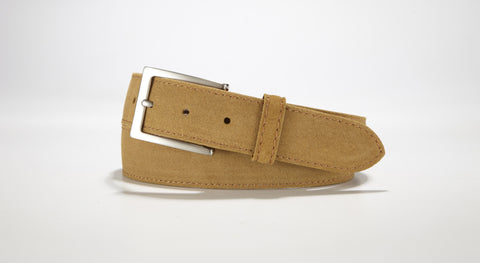 "Suede Leather 1 3/8"" - 35mm (Tan)"