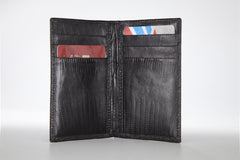 Lizard Vertical Credit Card Case - Black