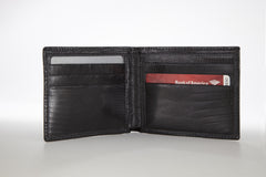 Lizard Bifold Wallet - Black