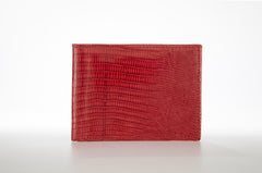 Lizard Bifold Wallet - Red