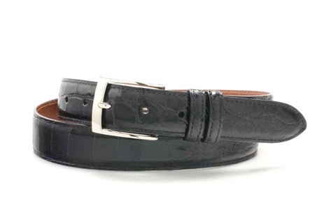 "American Alligator Belt - Glossy 1 1/4"" - 32mm (Black)"