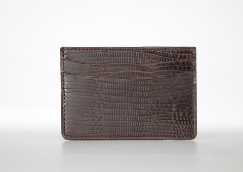Lizard Card Holder - Brown