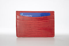Lizard Card Holder - Red
