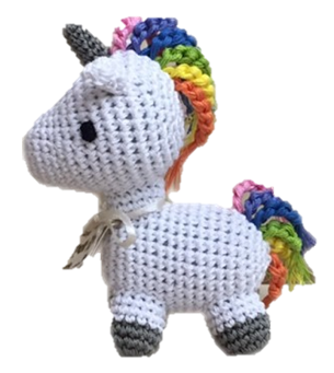 Luna the Unicorn Dog Toy - Dressed By Finn, LLC