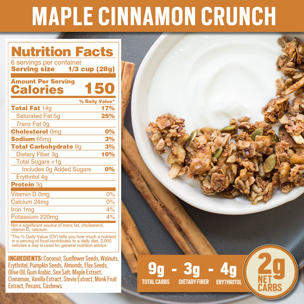 Nutrition Panel - Maple Cinnamon