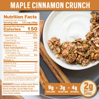 Nutrition Panel - Maple Cinnamon Crunch Keto Granola