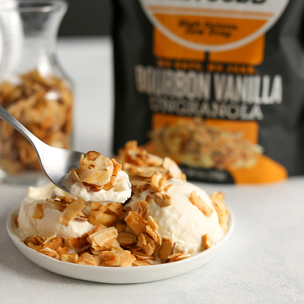 CLOSEOUT! Bourbon Vanilla UnGranola 6-Pack 6oz BEARDED BAGS - Bubba's Fine Foods