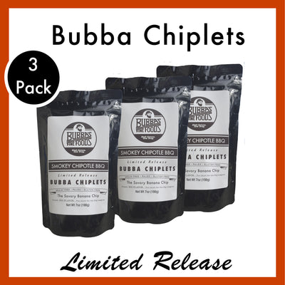 Smokey Chipotle BBQ Bubba Chiplets. 3 Pack.