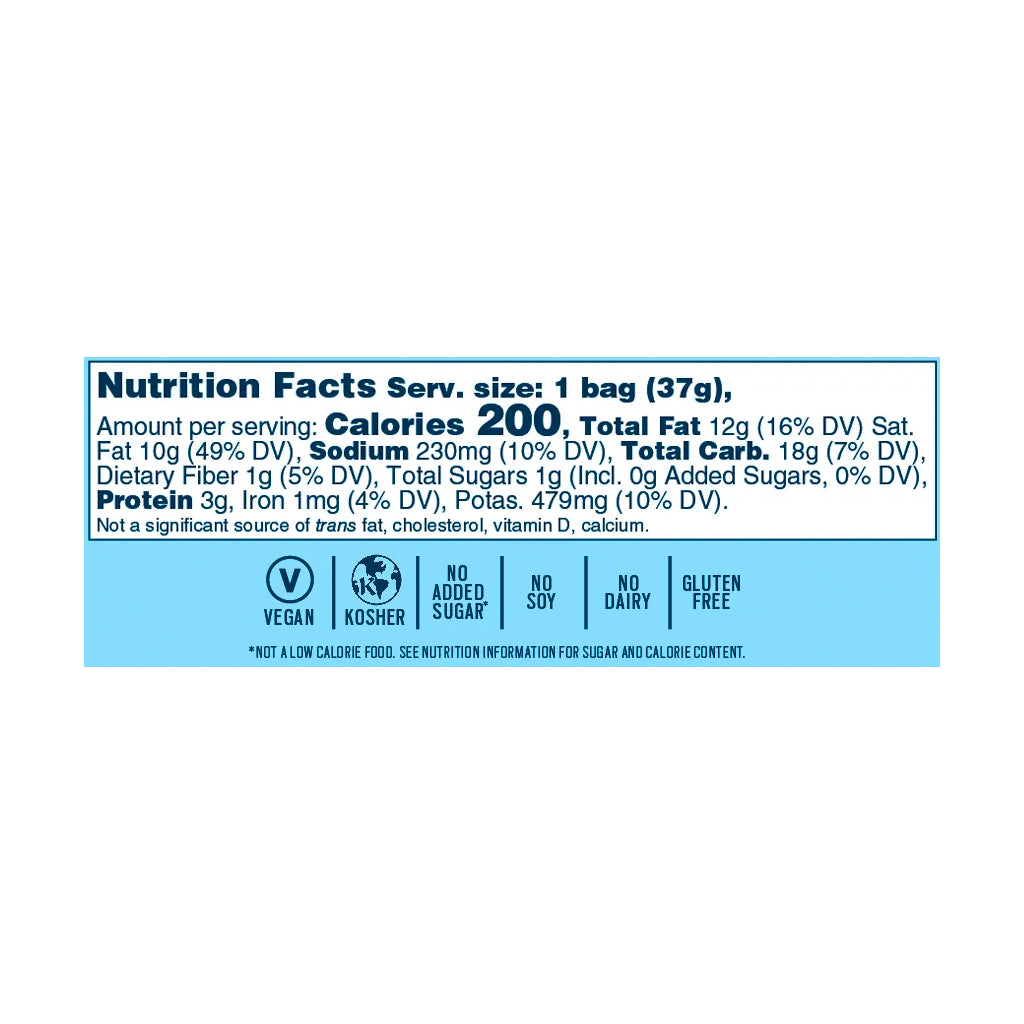 Grand Garlic Parm 'Nana Chips: Single Serve 8-Pack - Bubba's Fine Foods Nutrition Facts