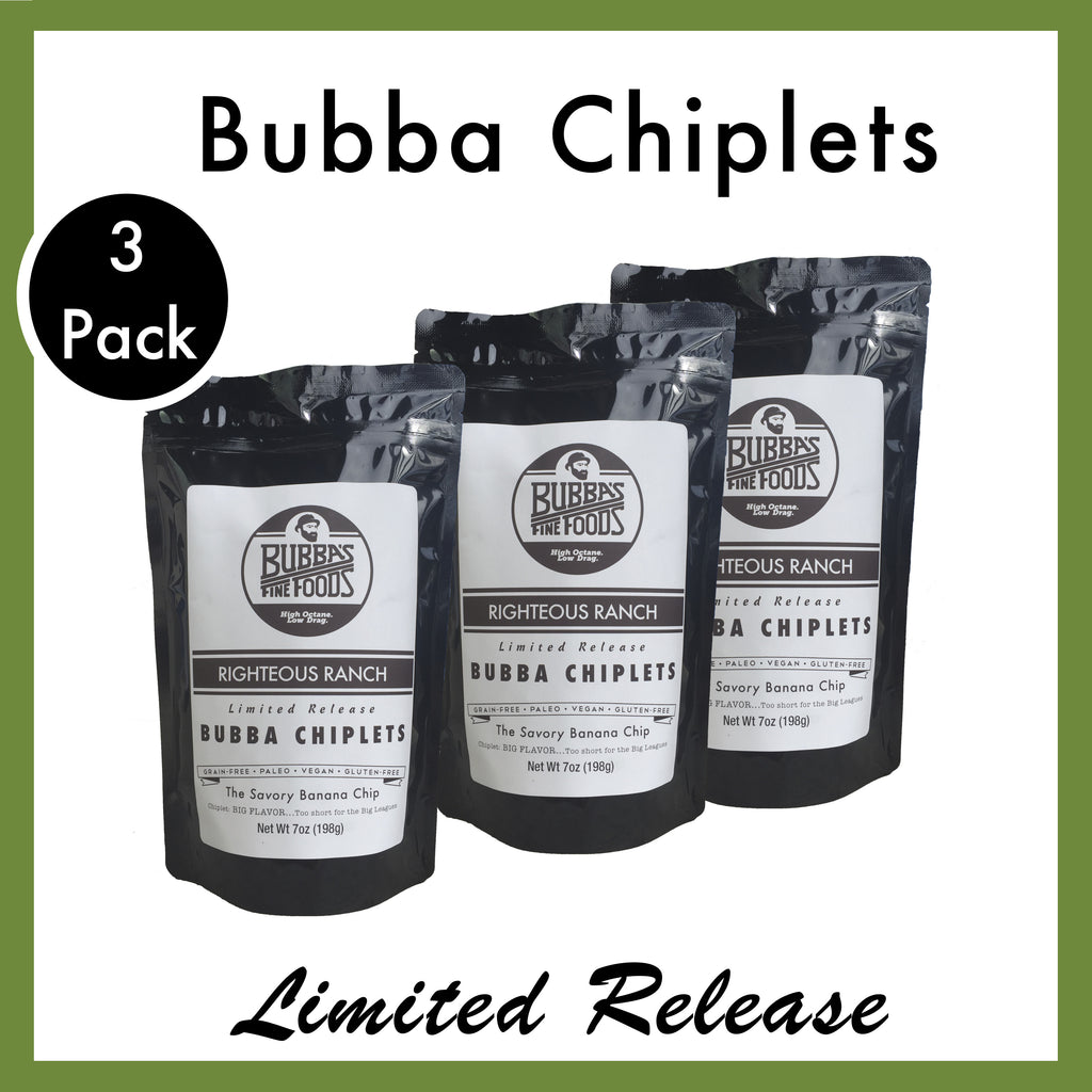 Righteous Ranch Bubba Chiplets. 3 Pack