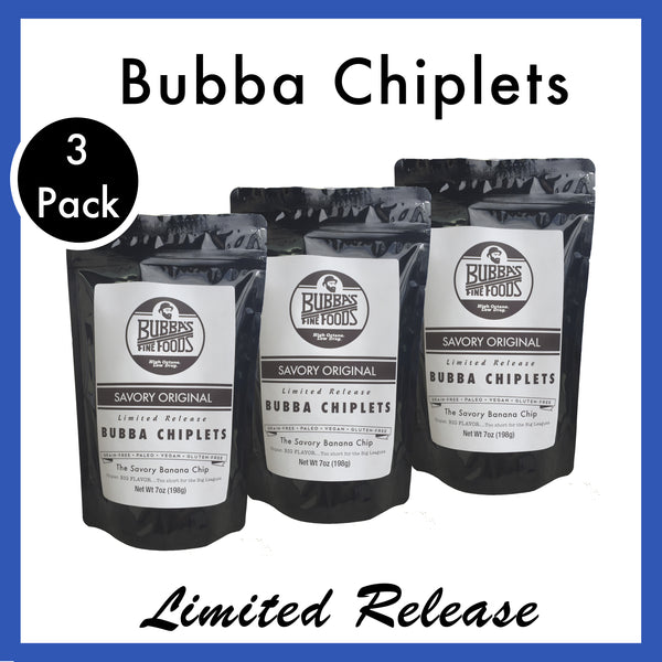 Savory Original Bubba Chiplets: 3-Pack
