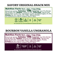Nutrition Panel - Snack Mix and Granola