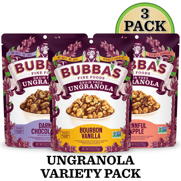 UnGranola Variety Pack: 3-Pack - Bubba's Fine Foods
