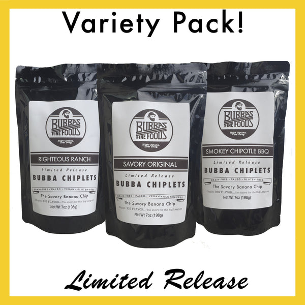 Bubba Chiplets Variety Pack: 3 Bags