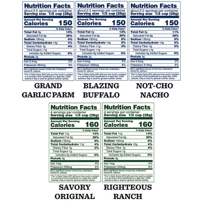 Vegan, No Sugar Added Variety Pack: 5-Pack - Bubba's Fine Foods Nutrition Facts