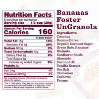 Nutrition Panel - Bananas Foster