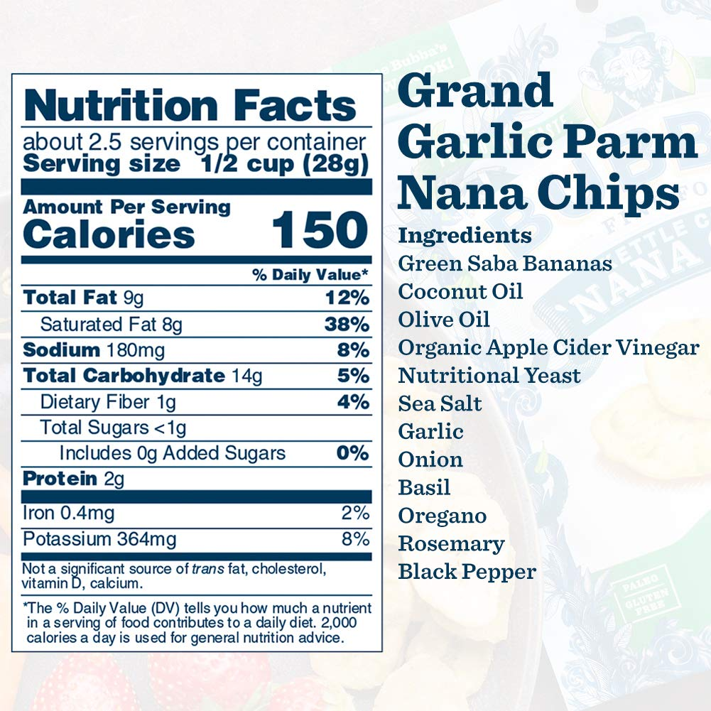 Grand Garlic Parm 'Nana Chips: 8-Pack