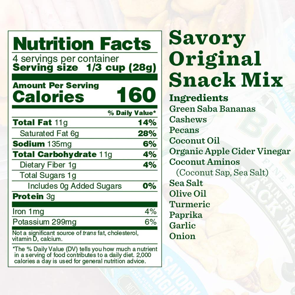 Nutrition Panel - Savory Original