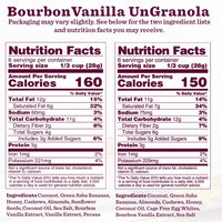 Nutrition Panel - Bourbon Vanilla UnGranola