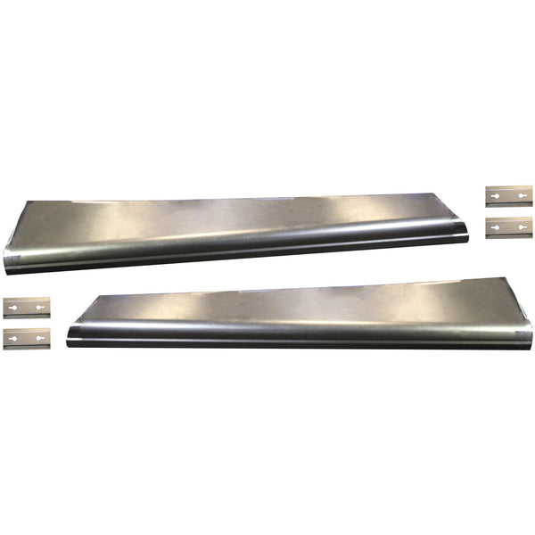 1934 Chrysler Full Size Smooth Running Board Set W/ Adapters