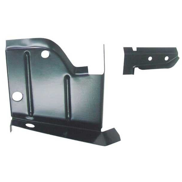 1968-1970 Dodge Charger B-Body Rocker to Frame Lower Splash Shield LH