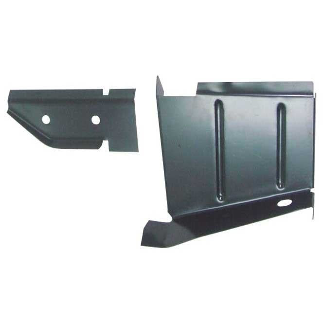1968-1970 Dodge Super Bee B-Body Rocker to Frame Lower Splash Shield RH