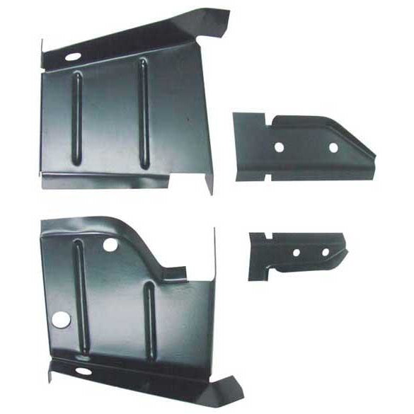 1968-1970 Dodge Charger B-Body Rocker to Frame Lower Splash Shield Set