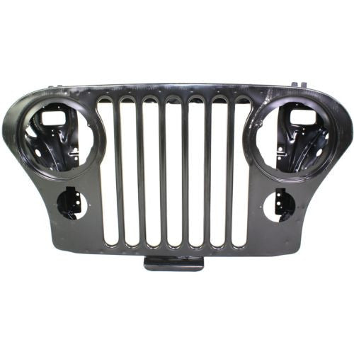 1972-1986 Jeep CJ 5 Grille, Insert, Steel, Black