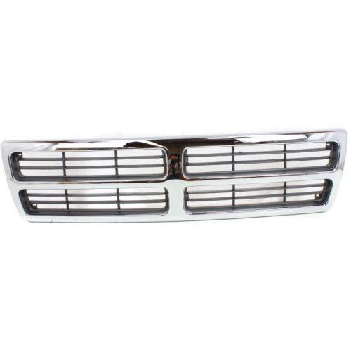 1994-1997 Dodge Van Grille,Chrome Shell/Dark Gray