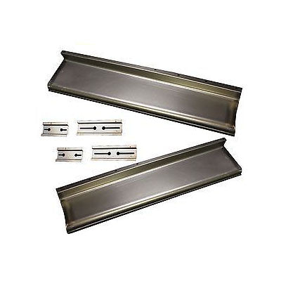 1934-1936 Chevy 1/2 Ton Pickup Smooth Running Board Set W/Adapters