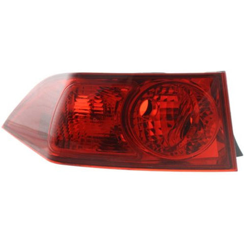 2004-2005 Acura TSX Tail Lamp LH, Outer, Lens And Housing