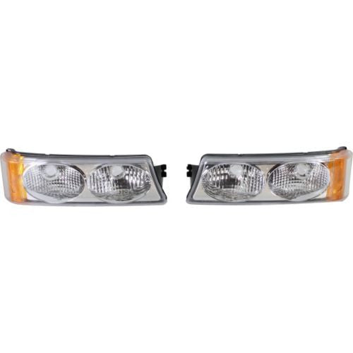 2003-2007 Chevy Silverado Clear Signal Light,Set,Twin Eyes,Type 2