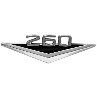 1964 Ford Mustang FENDER EMBLEM; 260; 2 REQUIRED