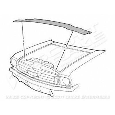 1964-1970 Ford Mustang RADIATOR SUPPORT TO HOOD SEAL KIT